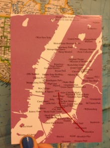 a new card that shows the places we've lived in NYC